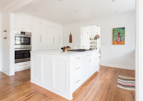 "1.5"" hardwood floors, bead-board ceiling, expanded entries. Photo Courtesy: Julia Steele"