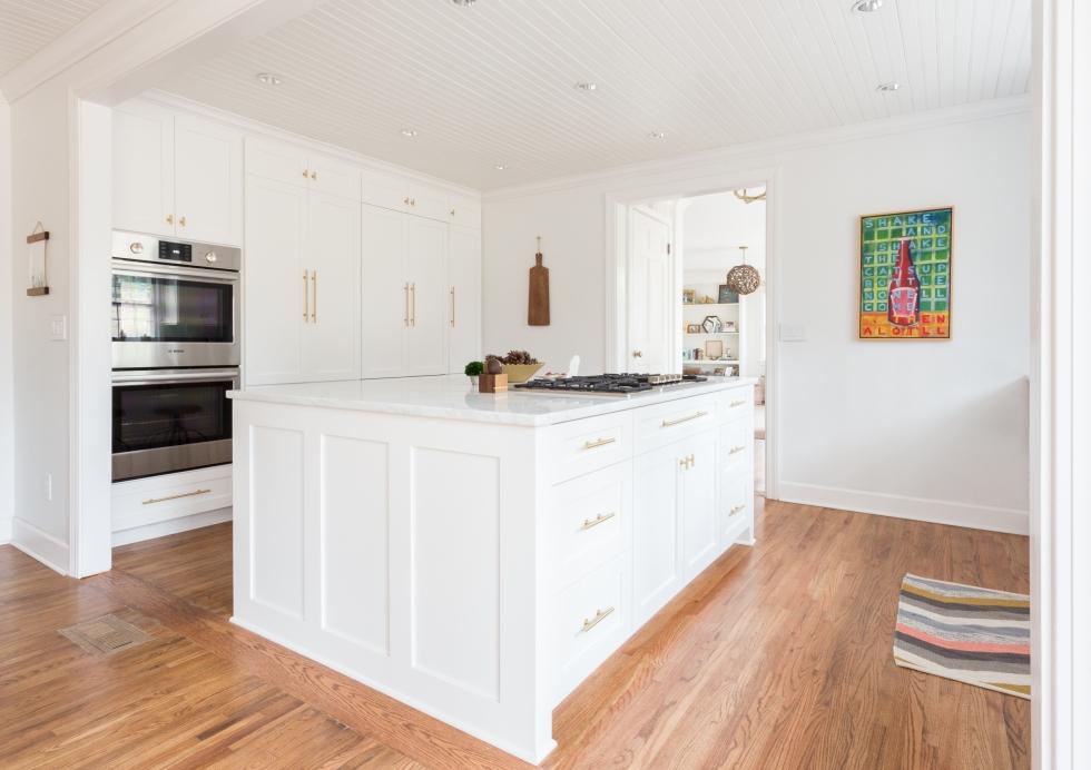 "1.5"" hardwood floors, bead-board ceiling, expanded entries. Photo Courtesy: Julia Steele"
